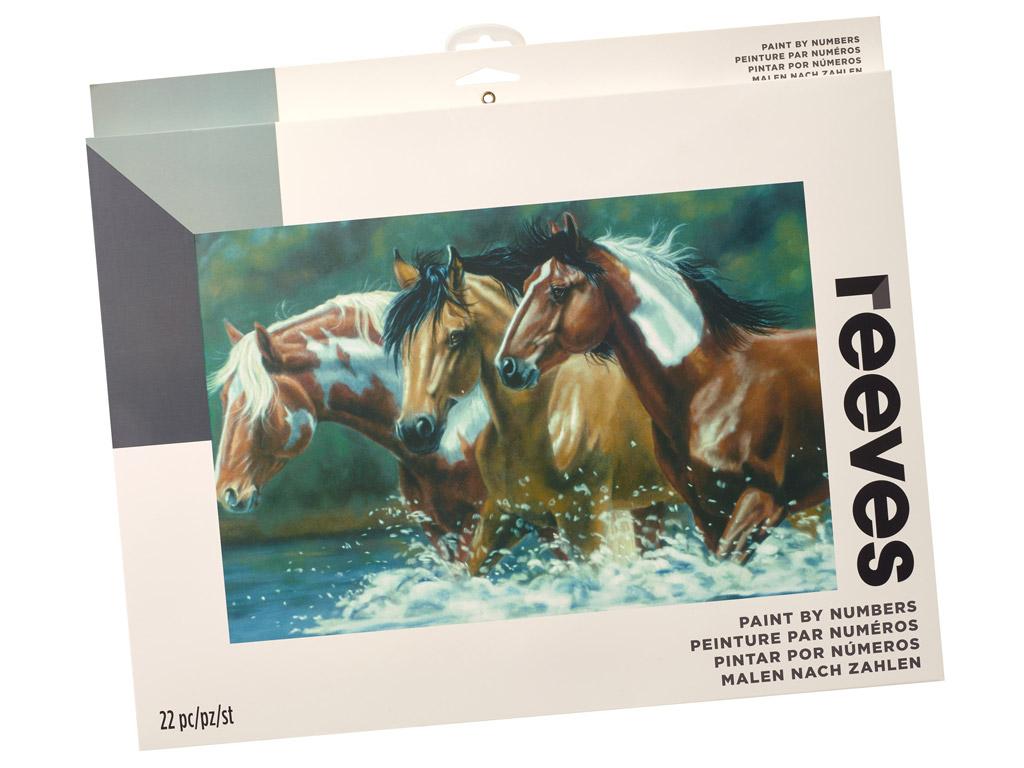 Maalimine numbrite järgi Reeves Artist Collection 30x40cm Heading Upstream