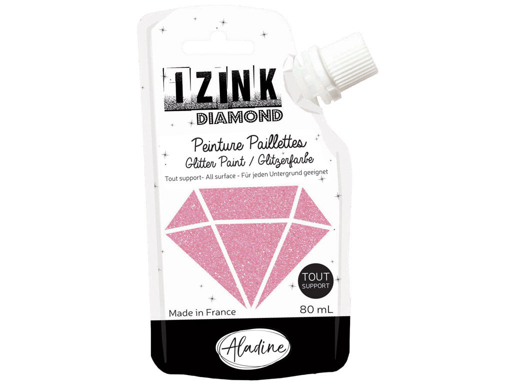 Glitter paint Aladine Izink Diamond 80ml pink