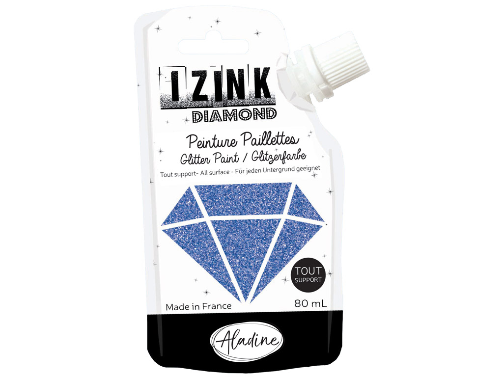 Glitter paint Aladine Izink Diamond 80ml blue