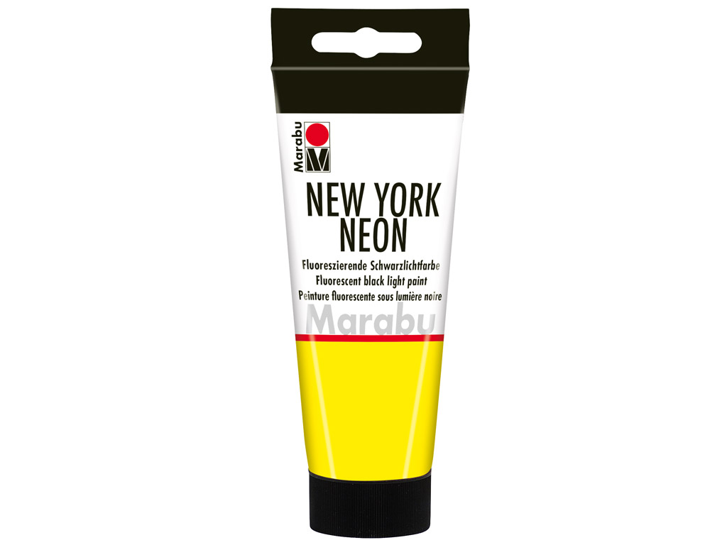 Fluorescent black light paint New York Neon 100ml 321 neon-yellow