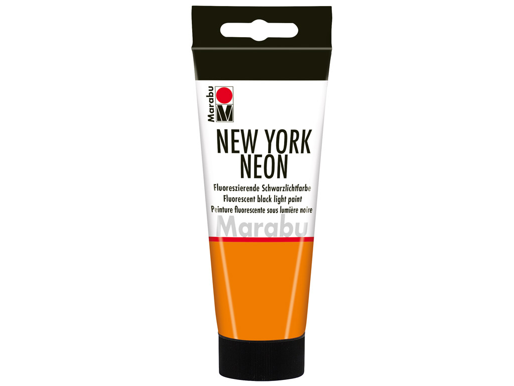 Fluorescent black light paint New York Neon 100ml 324 neon-orange