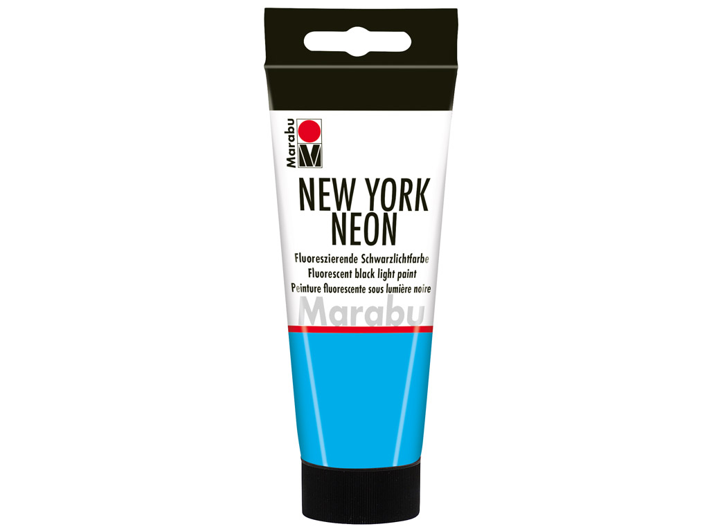 Fluorescent black light paint New York Neon 100ml 355 neon-blue