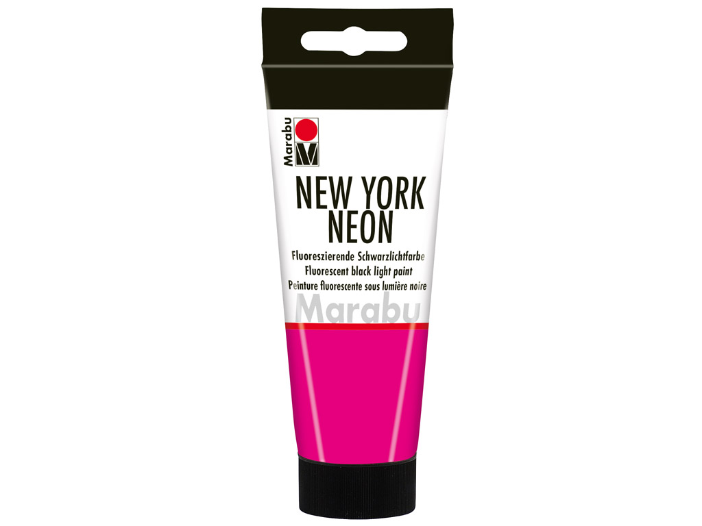 Fluorescent black light paint New York Neon 100ml 334 neon-pink