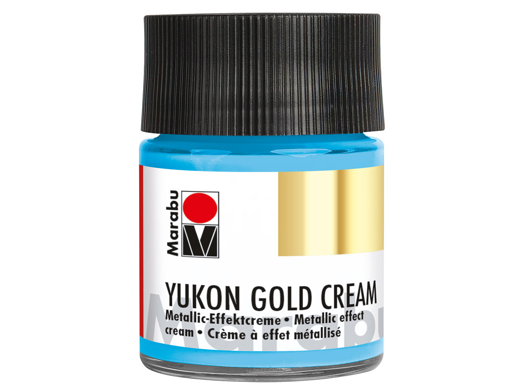 Dekorkrāsa Yukon Gold Cream 50ml 753 metallic-light blue
