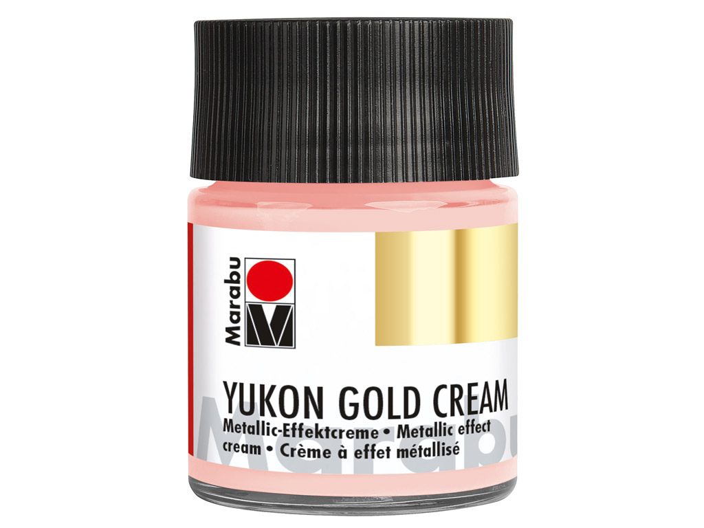 Metallic effect cream Yukon Gold Cream 50ml 734 rose gold