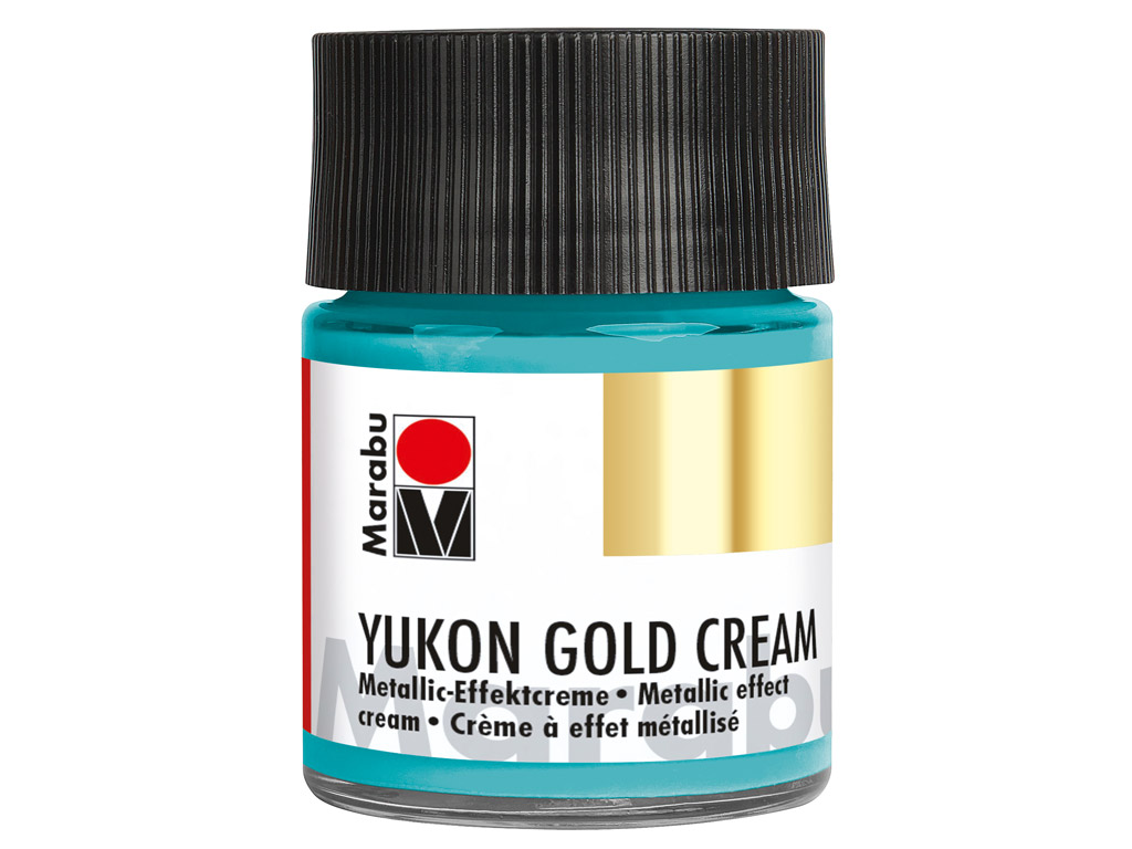 Dekorkrāsa Yukon Gold Cream 50ml 758 metallic-turquoise