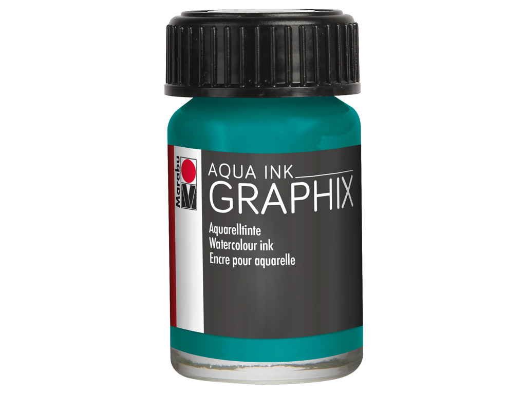Watercolour ink Graphix 15ml 092 petrol