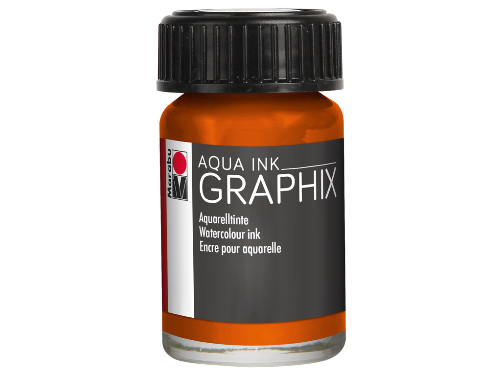 Akvarelinis tušas Graphix 15ml 013 orange