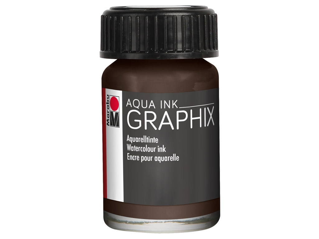 Akvarelltint Graphix 15ml 045 brown