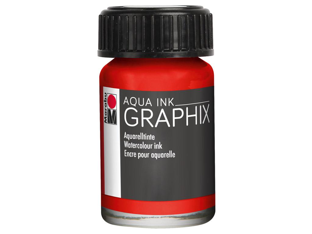 Watercolour ink Graphix 15ml 006 vermilion