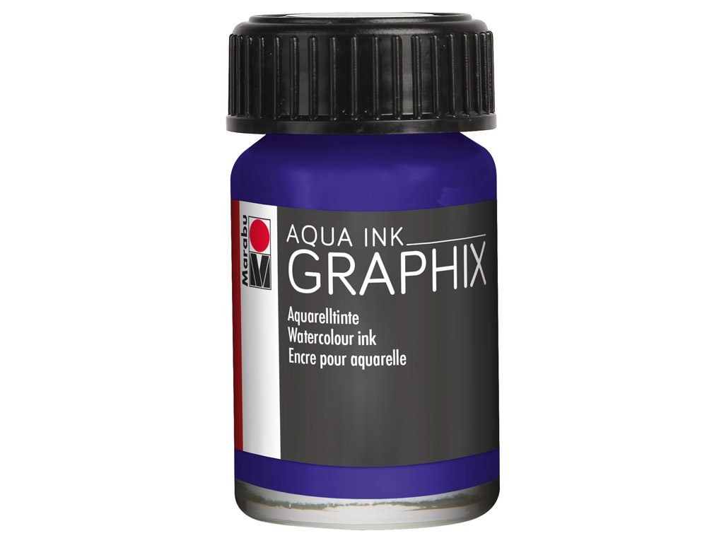 Akvarelltint Graphix 15ml 051 dark violet