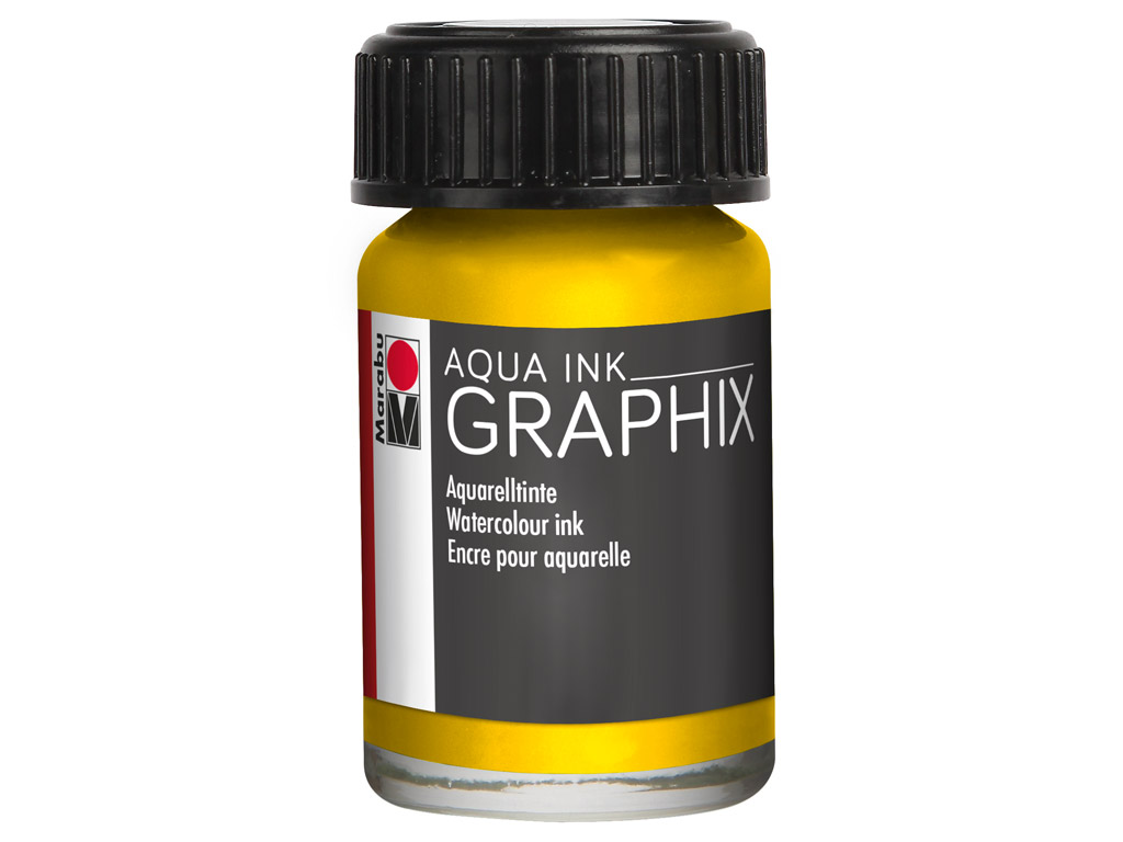 Akvarelltint Graphix 15ml 020 lemon