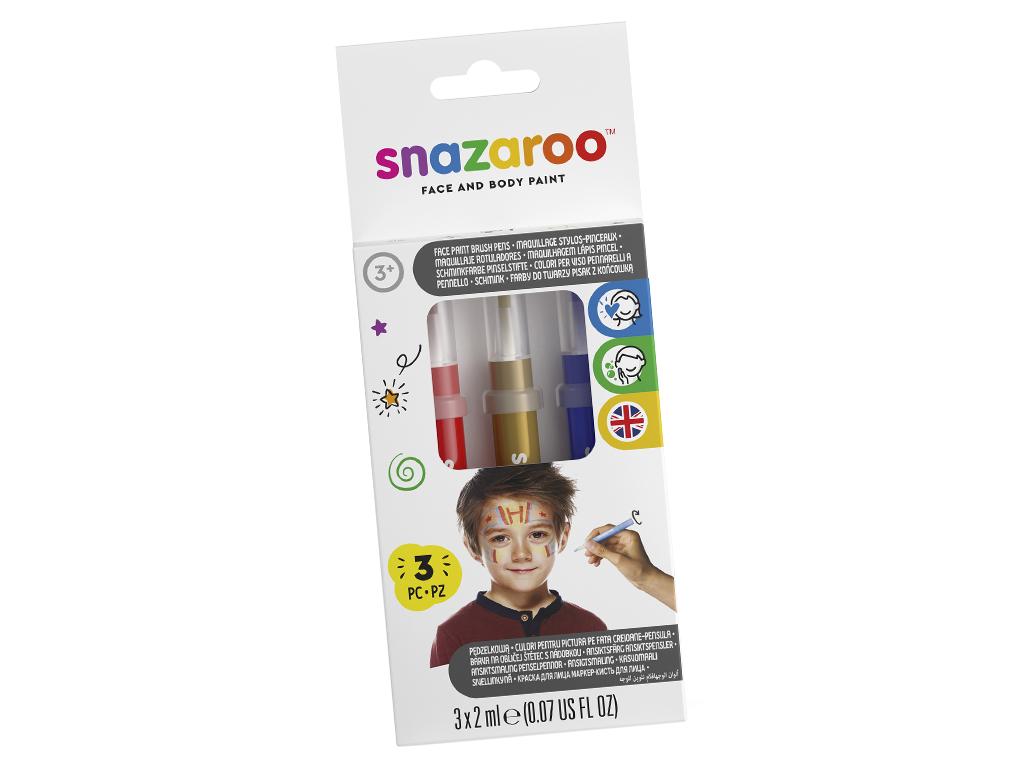 Näovärvi marker Snazaroo 3tk Adventure