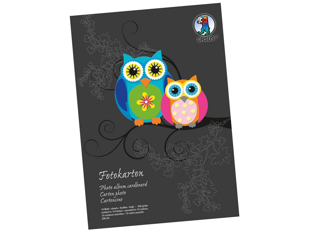 Kartong värviline Ursus Special Edition A4/300g 10 lehte