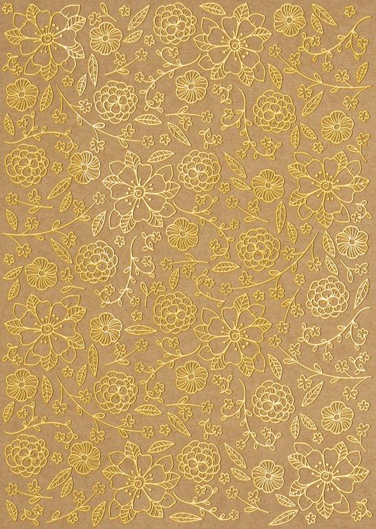 Design cardboard Ursus Kraft A4/250g Selection 01F gold