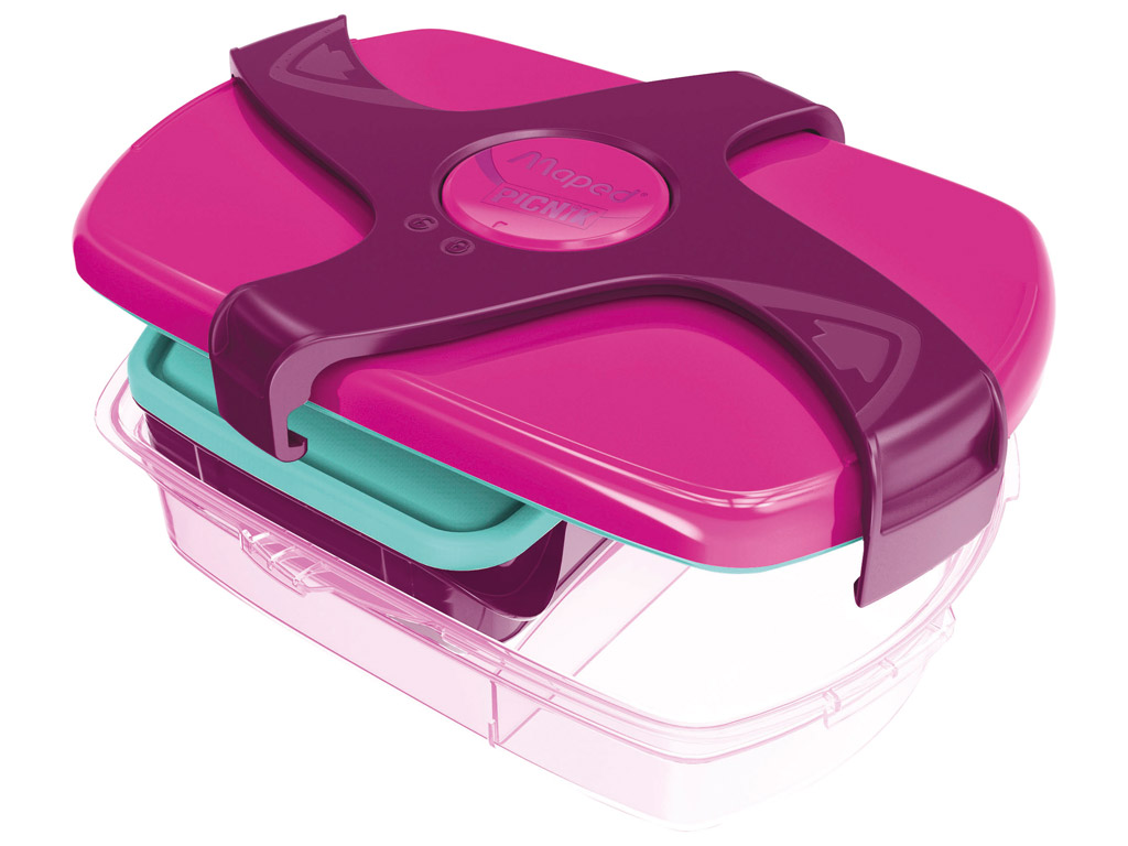 Lunch box Maped Picnik Kids Concept with 3 compartments 1.78l pink