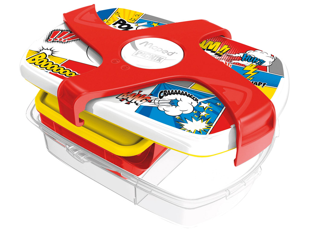 Lunch box Maped Picnik Kids Concept with 3 compartments 1.78l Comics