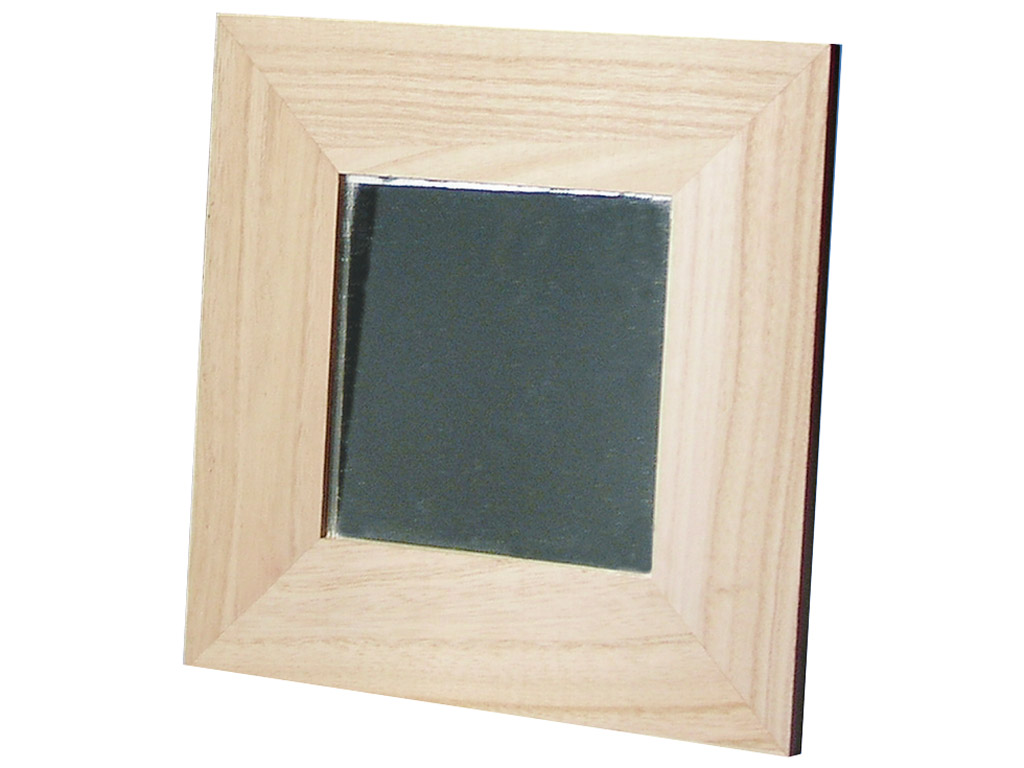 Wooden frame with mirror Rayher 22x22cm