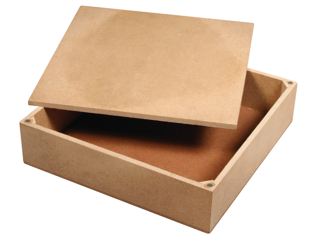 Box MDF Rayher 17x17x4.5cm top with 4 magnets