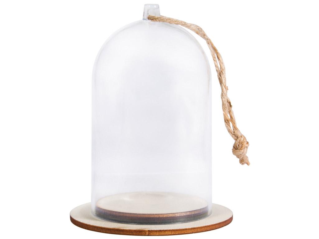 Kuppel plastikust Rayher alusega d=6cm h=9cm nööriga