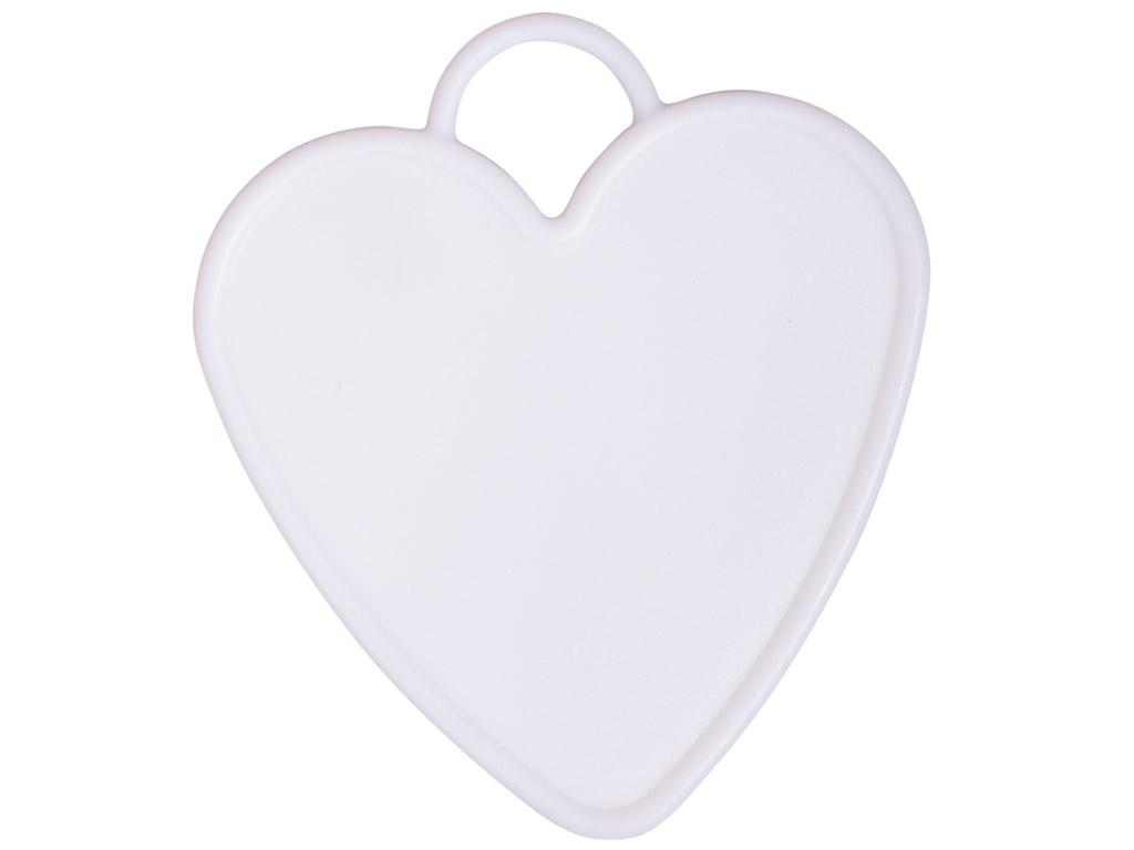 Õhupalli raskus Rayher süda 7.7x8.7cm 6tk valge