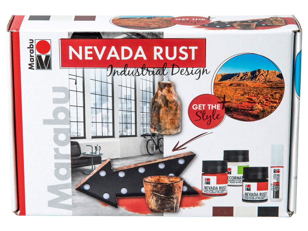 Acrylic rust-effect set Nevada Rust Industrial Design
