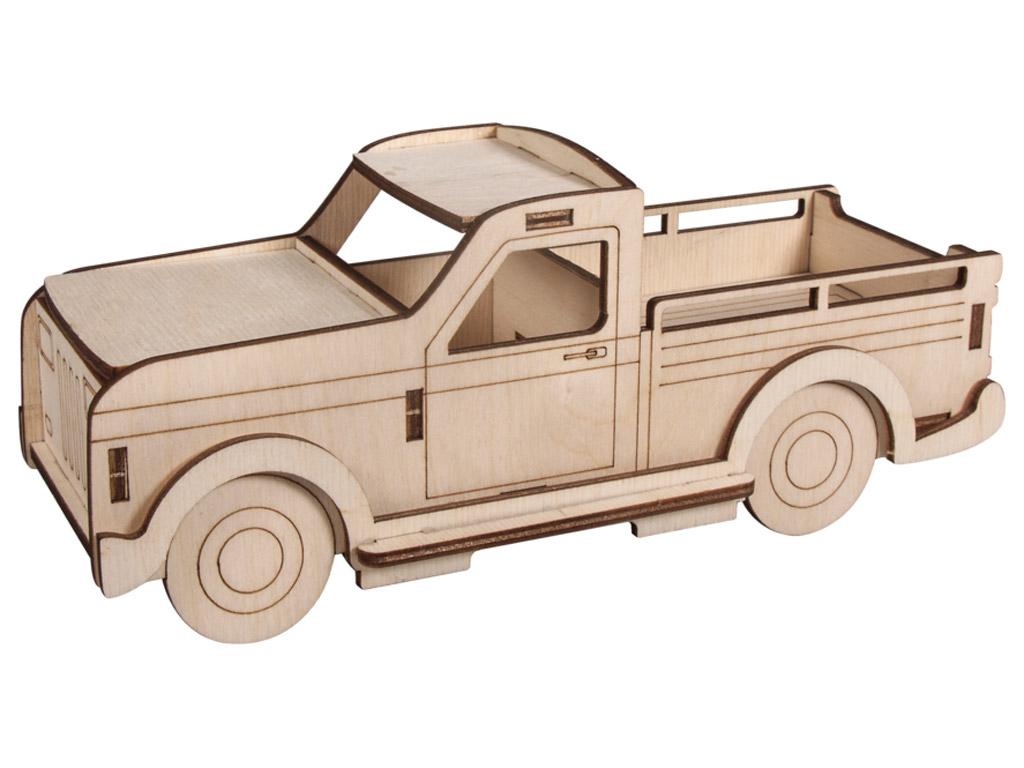 3D wooden figure Rayher truck 21x8x8cm 14 pieces