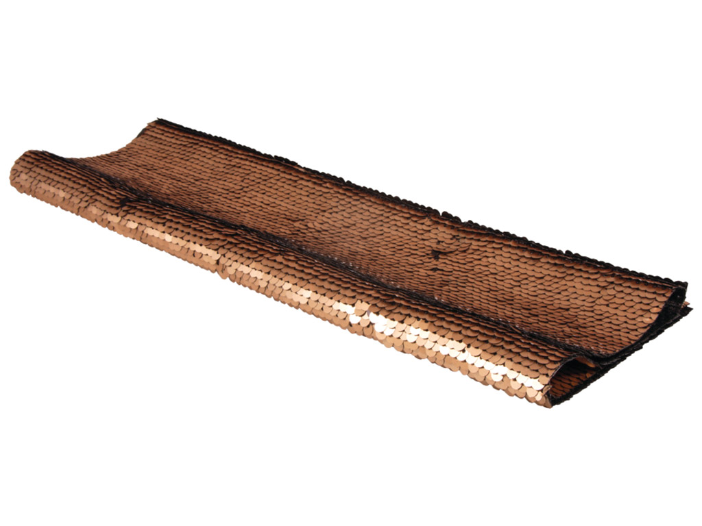 Vartomų blizgių žvynelių audinys Rayher 42x32cm 400g/m2 auksinė/juoda