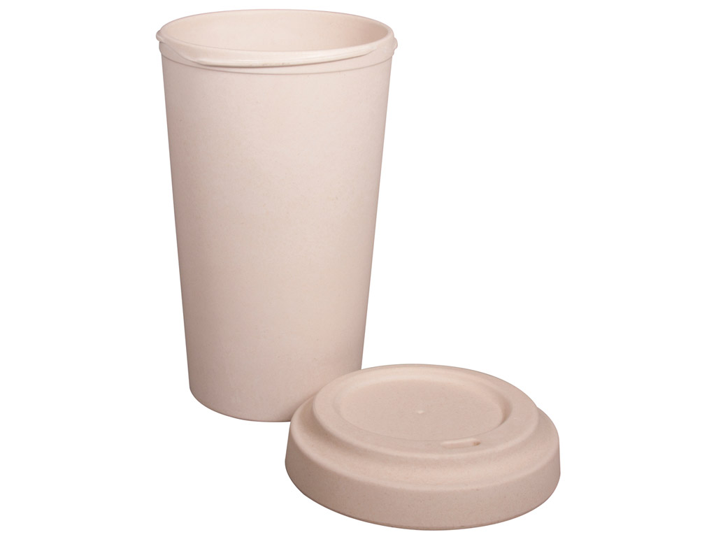 Bamboo mug to go Rayher with lid 600ml