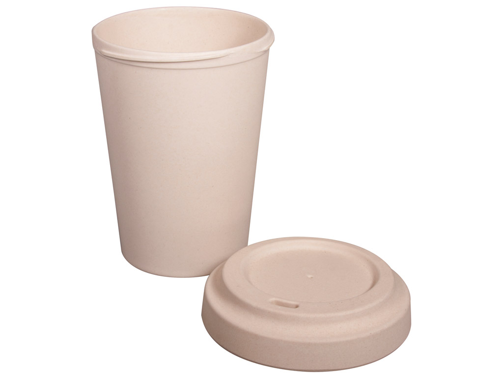 Bamboo mug to go Rayher with lid 500ml