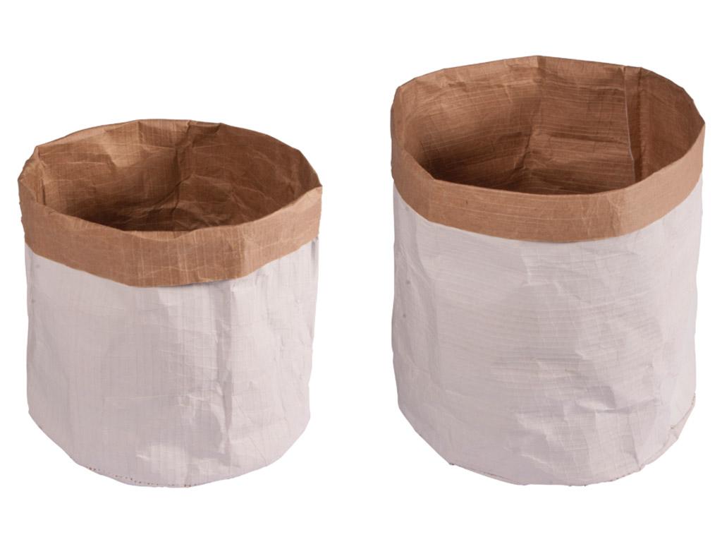 Paper sacks with round bottom Rayher d=13cm h=14cm/d=11cm h=10cm 2pcs