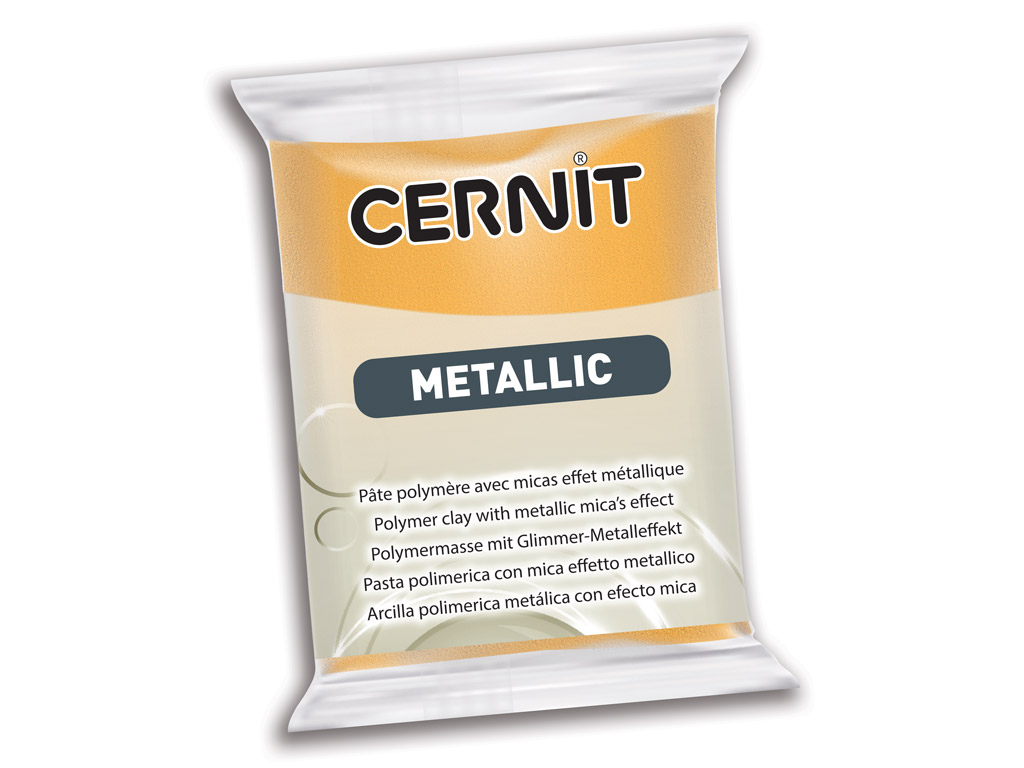 Polymer clay Cernit Metallic 56g 050 gold