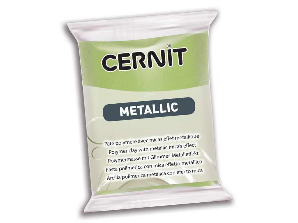 Polymer clay Cernit Metallic 56g 051 green gold