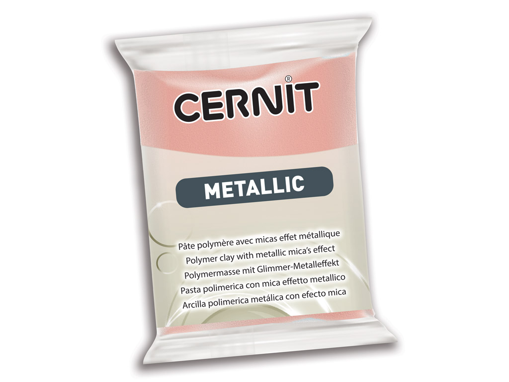 Polymer clay Cernit Metallic 56g 052 pink gold
