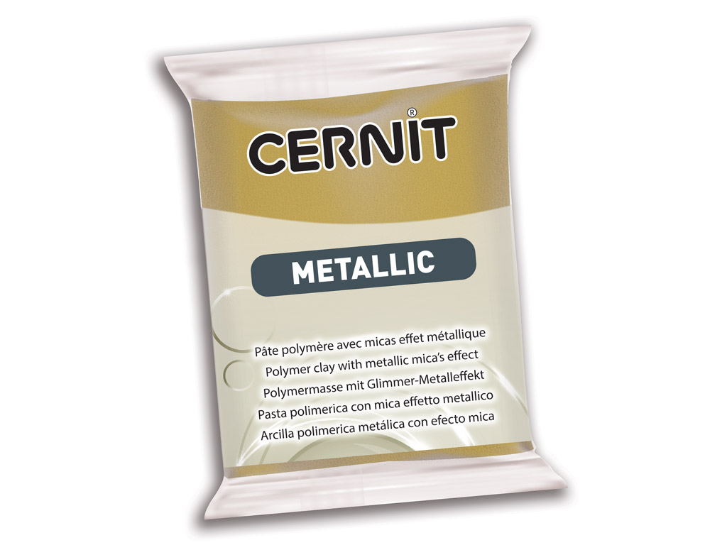 Polimerinis molis Cernit Metallic 56g 055 antique gold