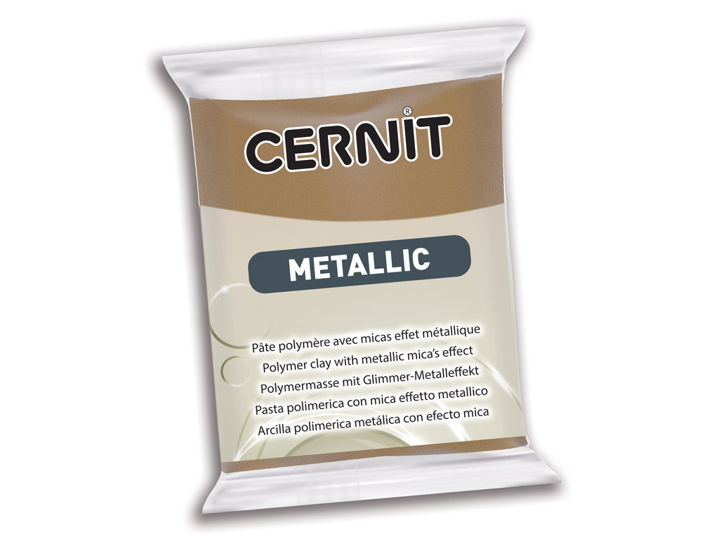Polimerinis molis Cernit Metallic 56g 059 antique bronze