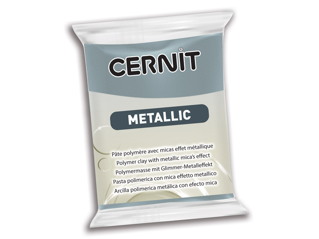 Polymer clay Cernit Metallic 56g 167 steel