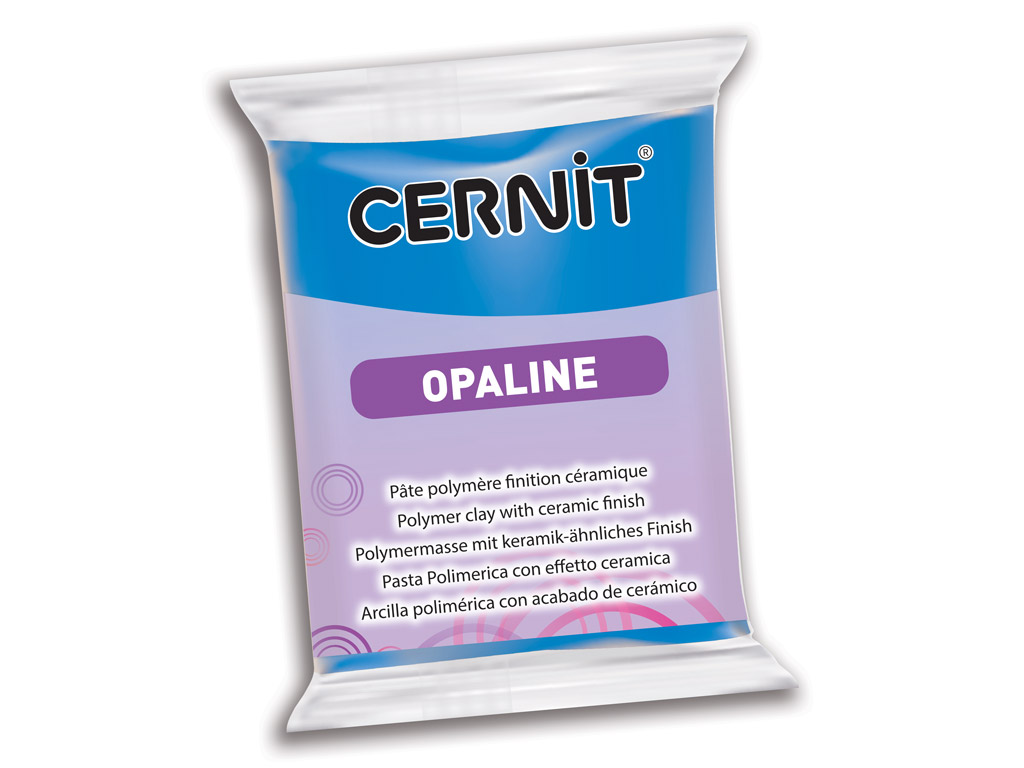 Polymer clay Cernit Opaline 56g 261 primary blue