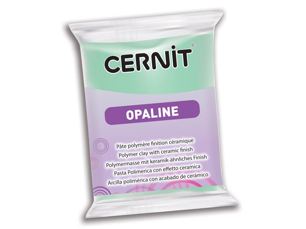 Polymer clay Cernit Opaline 56g 640 mint green