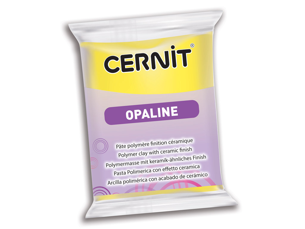 Polymer clay Cernit Opaline 56g 717 primary yellow