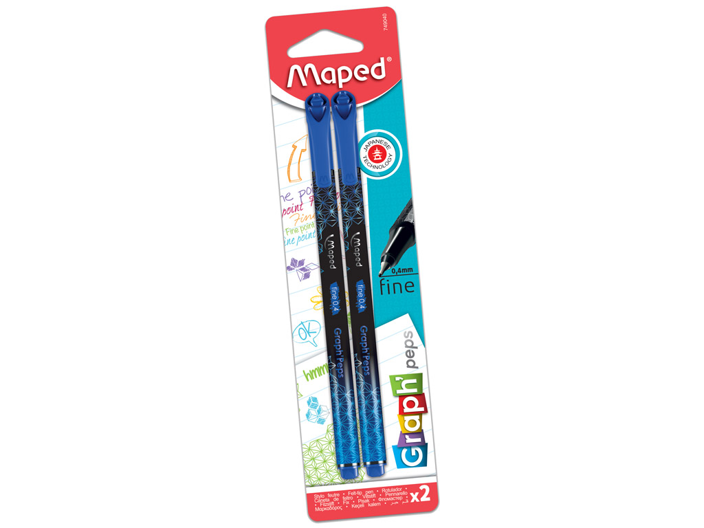 Tintpliiats fineliner Maped GraphPeps Deco 0.4 marina blue 2tk blistril