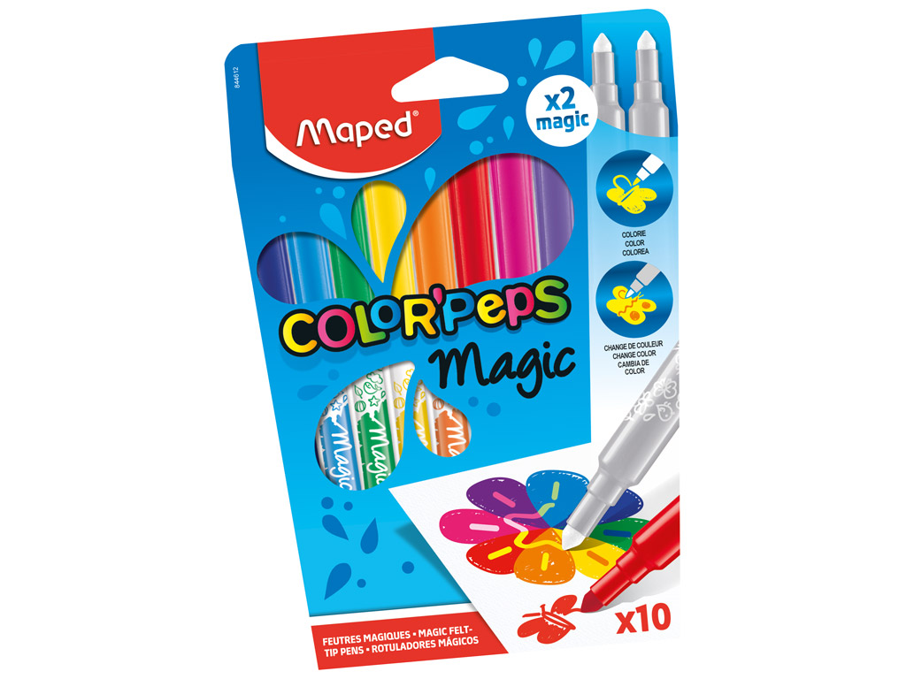Viltpliiats ColorPeps Magic 10tk
