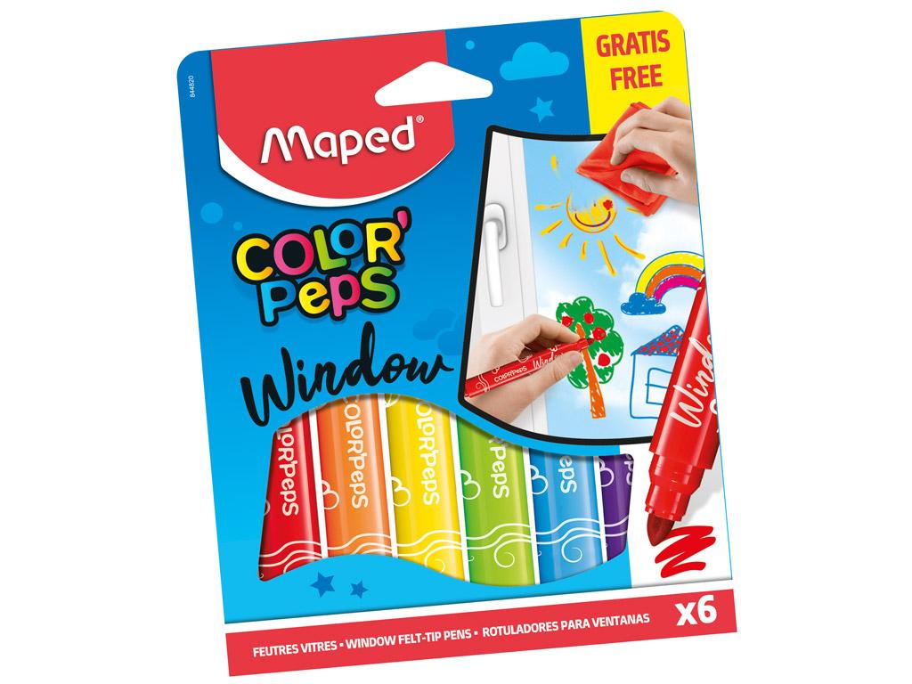 Flomasteris stiklui ColorPeps 6vnt.