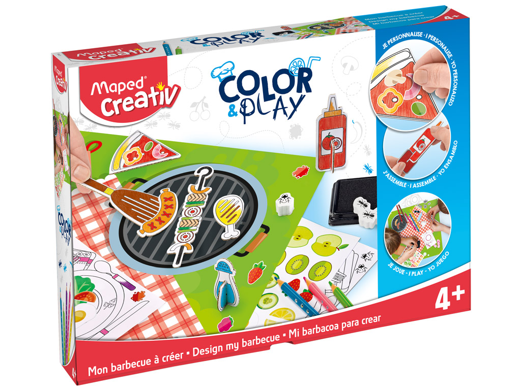 Crafting kit Maped Creativ Color&Play Design my Barbecue