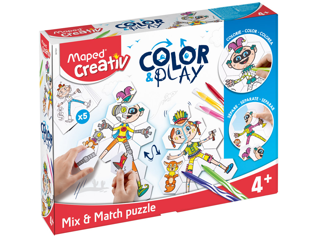Meisterduskomplekt Maped Creativ Color&Play Mix&Match Puzzle