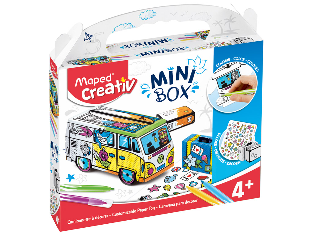 Meisterduskomplekt Maped Creativ Mini Box buss