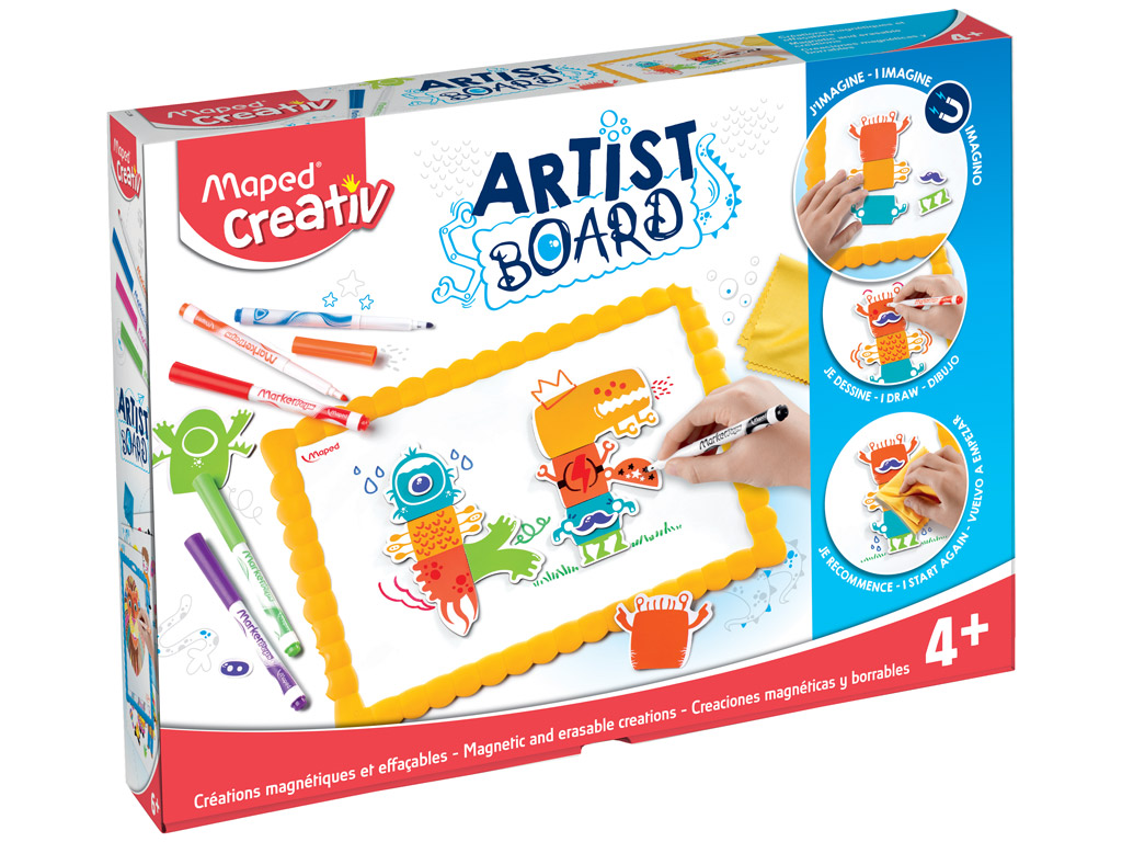 Joonistuskomplekt magnettahvliga Maped Creativ Artist Board Monsters