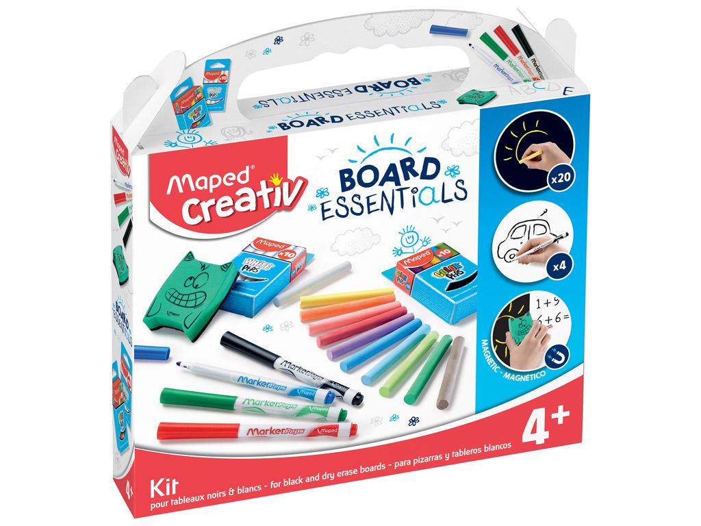 Black and dry erase boards essentials kit Maped Creativ Board Essentials