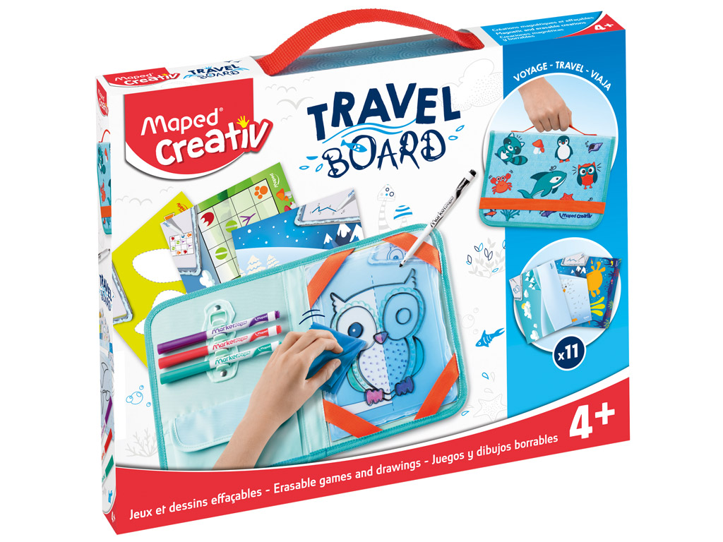 Joonistuskomplekt tahvliga Maped Creativ Travel Board Animals