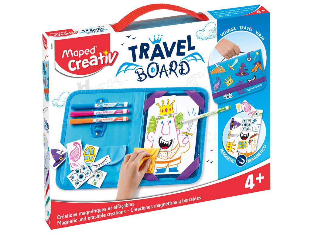Magnetic and erasable creations kit Maped Creativ Travel Board Knights and Princesses